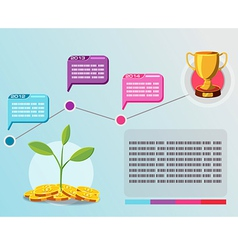 Timeline info graphic business plan vector image