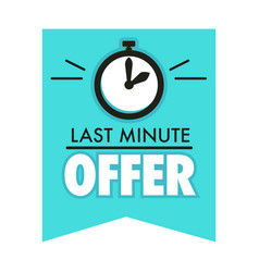 timer countdown last minute offer isolated icon vector image
