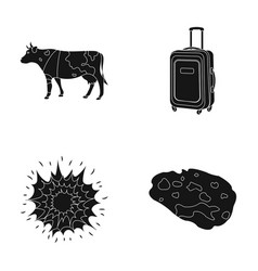 Travel agriculture and or web icon in black style vector