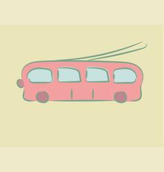 trolley bus vector image