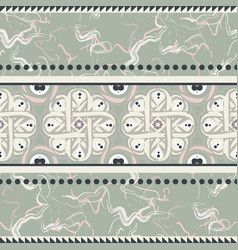 vintage ceramic seamless design vector image