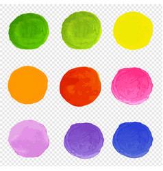 watercolor blots set transparent background vector image