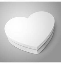 White heart shape box isolated on gray background vector