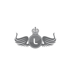 Wing shield crown initial l vector