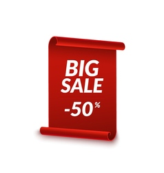 Big Sale ribbon design template Banner sale tag vector image vector image