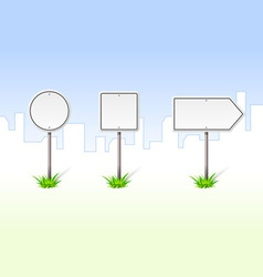 blank traffic signs vector image vector image