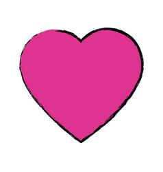 cartoon heart love romantic symbol vector image vector image