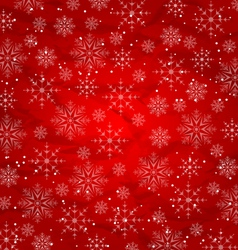 Christmas red wallpaper snowflakes texture vector image vector image