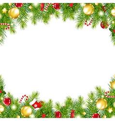 Christmas Vintage Border vector image