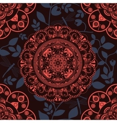 Colorful ornamental background vector image