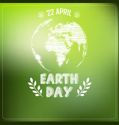earth day of background a shape typography vector image vector image