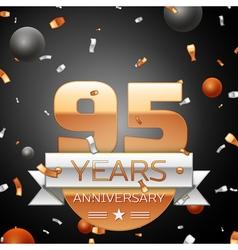 Ninety five years anniversary celebration vector image