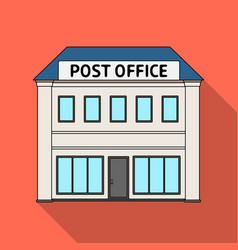 post officemail and postman single icon in flat vector image