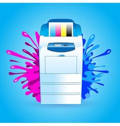 printer cmyk print splash vector image vector image