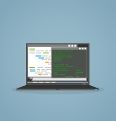 Programming notebook vector image