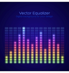 Rainbow equalizer vector image