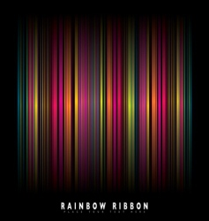 rainbow stripe background vector image vector image