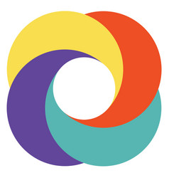 template abstract logo diaphragm camera vector image vector image