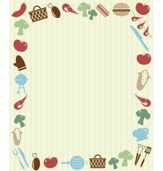 Barbecue picnic invitation vector image