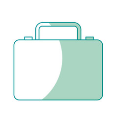business suitcase portfolio document accessory vector image vector image