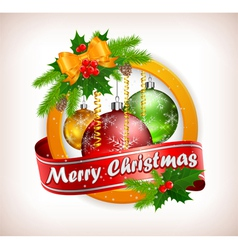 christmas lable 10 SS 4 v vector image vector image
