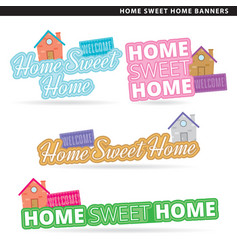 home sweet home banner vector image vector image