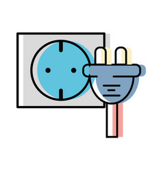 Power cable to electronic connect energy vector