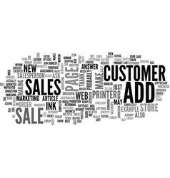 add on sales the key to success on the web text vector image vector image
