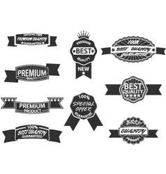 Set of 9 Retro Premium Quality Labels vector image vector image