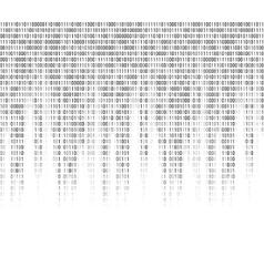 Virtual computer binary code abstract background vector