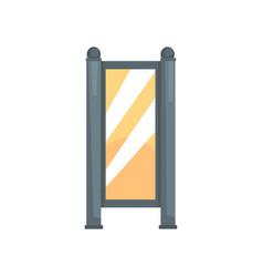 blank white vertical light box advertising vector image