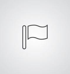 flag outline symbol dark on white background logo vector image vector image