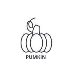 pumpkin line icon outline sign linear symbol vector image vector image