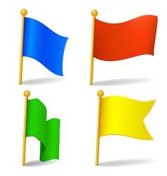 set of vector color cartoon flags vector image vector image