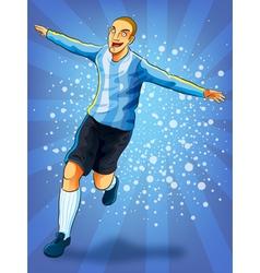 Soccer player celebrating goal vector