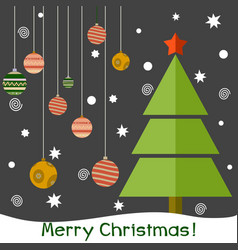 a christmas fir tree vector image vector image