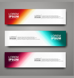 Abstract web banner design template with halftone vector