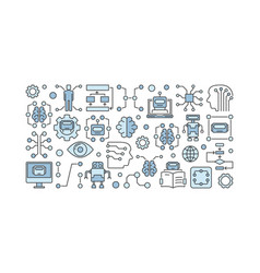 Ai technology concept on white vector