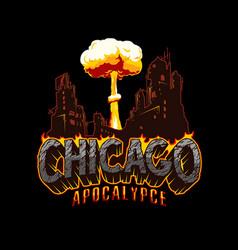 apocalypse vintage concept vector image