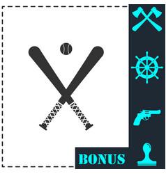 baseball icon flat vector image