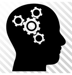 Brain Mechanics Icon vector image