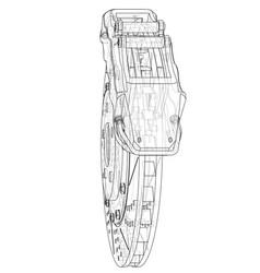 brake disc outline rendering of 3d vector image