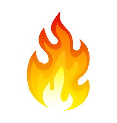 Burning fire icon flaming and explosion heat vector
