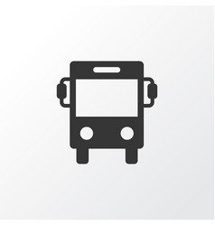 Bus icon symbol premium quality isolated vector