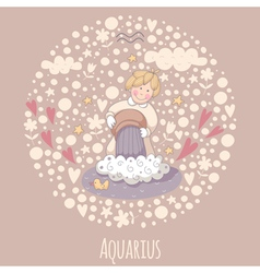 Cartoon of the water-bearer Aquarius vector