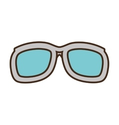 cartoon sunglasses accessorie travel vector image