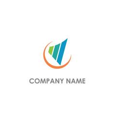 Chart business progress logo vector