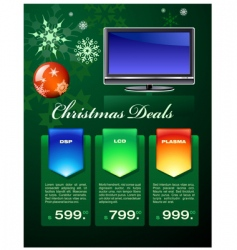 Christmas deals flyer vector image
