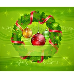 christmas ornament holy wreath 10 v vector image