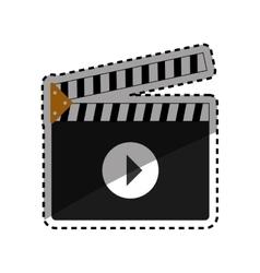 Cinema clapboard equipment vector
